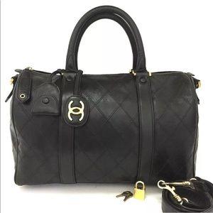 CHANEL Bandouliere Leather Handbag +Shoulder Strap